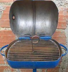 parrillera a carbon hecha de bombona