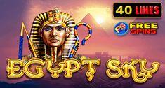 Play this casino slot: Egypt Sky at Maneki online casino Casino Promotion, Casino Games, Online Casino, Egypt, Lion Sculpture, Play