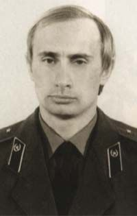 Vladimir Putin in his KGB uniform. Putin was in the KGB before he became Russian Neo-Tzar.