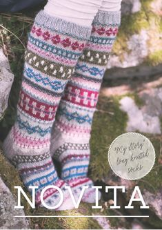 These beautiful socks are an ideal way to use your stash of scrap yarn! Knitted from Novita 7 Veljestä and Novita 7 Veljestä Pohjola. Fair Isle Knitting, Arm Knitting, Knitting Socks, Knit Socks, Christmas Knitting Patterns, Knitting Patterns Free, Crochet Slippers, Knit Crochet, Knitting Supplies