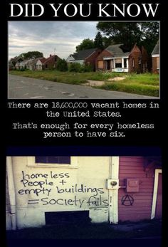 There is something wrong with this statistic. 6 houses for every homeless person? wow