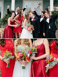red bridesmaid dress @weddingchicks