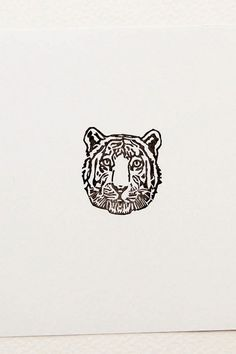Tiger stamp, rubber stamp, realistic tiger, book lover gift, birthday gift, Jungle Book, Shere Khan, Tiger Head Tattoo, Head Tattoos, Tatoos, Tiger Tattoo Small, Dragon Tattoos, Sleeve Tattoos, Medusa Tattoo Design, Tattoo Designs, Mini Tattoos