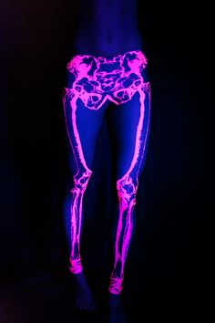 Leg Bones Fluro Pink...under a black light!