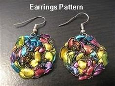 Patterns Using Ladder Yarn   ... Patterns / Crocheted Trellis Yarn Dangle Earrings Pattern - Emailed