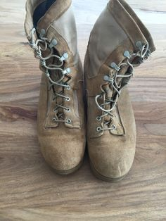 Wellco Tan Suede And Nylon Desert Combat Boots Men's Size 12 W ...