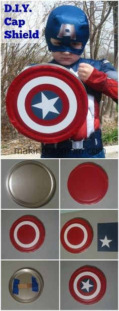 Want to Be Like 'Cap' – Captain America Costumes. Make your own Captain America Shield #CaptainAmericaEvent #DIY #Craft