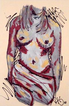"""ONLY CLOTH Acrylic on canvas 91cmx61cm (36""""x24"""") $600"""