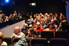 The audience ready to watch director Rob Holder's spy thriller.