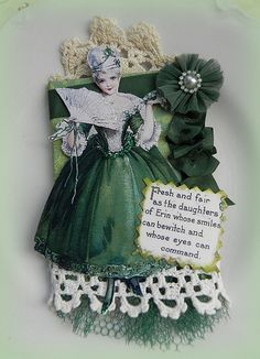 """ATC """"Daughter of Erin""""  St. Patrick's Day 2013"""
