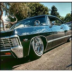 """Mike Lopez """"Devil's Chariot"""". 67 Chevy Impala from Lifestyle lowrider car club......"""