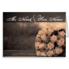 Elegante Hochzeit Grußkarte  35% auf Grußkarten & Einladungen - Entdecke unser großartiges Sortiment an Weihnachtskarten!   Gutscheincode: SHOPXMASCARD