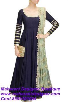 #BuyAnarkaliSuitOnSale Price : 8900/- Maharani Designer Boutique www.maharanidesigner.com Cont.8699101094