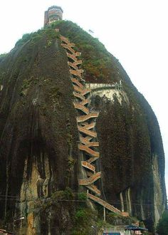 ... 659 stairs to the top, The Guatape Rock in Colombia