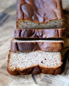 paleo banana bread  •3 very ripe bananas (about 1 ½ cups) mashed   •3 eggs   •2 tsp vanilla extract   •1 tsp almond extract (optional, but we love it!)   •1 tablespoon honey (agave or maple would work too)   •¼ cup coconut oil, melted   •2 cups almond meal (I get mine at Trader Joe's)   •½ teaspoon salt   •1 teaspoon baking soda  350 degrees 55-65mins