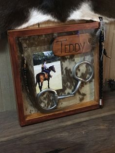 Trail Riding Horses, Horse Riding, Horse Shadow Box, Horse Hair Jewelry, Le Zoo, Equestrian Decor, Horseshoe Crafts, Horse Crafts, Horse Barns