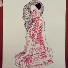 """With his """"X-ray Series"""", the French illustrator Chris Panda has fun to turn famous cartoon characters in anatomy lesson, drawing with great precision the Skeleton Drawings, Skeleton Art, Art Drawings, Favorite Cartoon Character, Character Art, Character Design, Anatomy Sketches, Anatomy Drawing, Human Anatomy Art"""