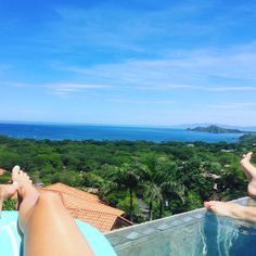 The amazing view from the infinity pool at Casa De Los Suenos. Located in Hermosa Heights, Guanacaste Costa Rica.