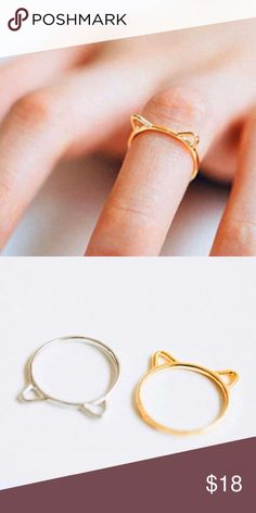cat ears ring Wila cat ears ring. Size 7. Material content: 14k rose gold alloy metals. Only available in the rose gold Wila Jewelry Rings