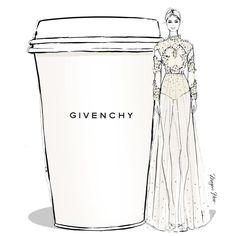 Givenchy Coffee - Megan Hess