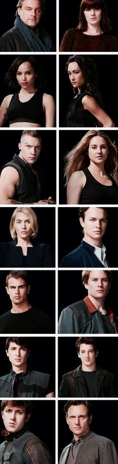 All of divergent cast pics  ~Divergent~ ~Insurgent~ ~Allegiant~