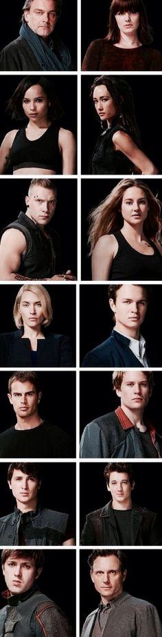 All of the Divergent movie cast pics  ~Divergent~ ~Insurgent~ ~Allegiant~