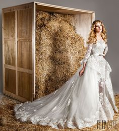 Zuhair Murad İlkbahar-Yaz 2015 - Gelinlik - http://tr.flip-zone.com/fashion/bridal/the-bride/zuhair-murad-5159