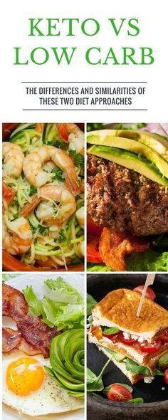 Low carb and keto diets have many similarities. But, they're different too. This… Low-Carb- und Keto-Diäten weisen viele Ähnlichkeiten auf. Dieta Atkins, Atkins Diet, Diet And Nutrition, Proper Nutrition, Keto Vs Low Carb, Paleo Vs Keto, Low Carb Food List, Diet Recipes, Healthy Recipes
