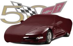 C5 Corvette 50th Color Match Car Cover - Ruby Red