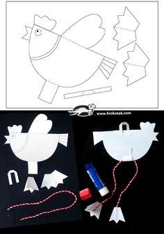 Kindergarten Art Projects, Classroom Art Projects, Art Classroom, Projects For Kids, Bird Crafts, Diy And Crafts, Arts And Crafts, Paper Crafts, Classe D'art