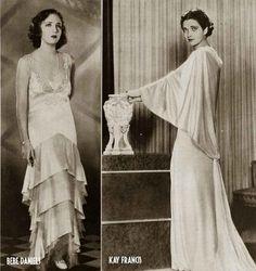 Kay Francis Bebe Daniels modelling 1930s fashion,