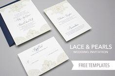 DIY Free, Downloadable Wedding Invitation Templates