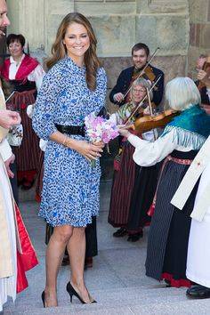 Princess Madeleine of Sweden attends ' Jarvsomassan ' a folk fair for musicians on June 5 2016 in Stockholm Sweden