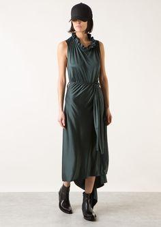 Vetements Dresses :: Vetements forest green silk long dress   Montaigne Market/Love color, shape and riding accessories