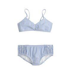 f145c1cb35525 crewcuts Girls Bikini Set In Seersucker (Size 12 Kid) Swim Cover Ups, Pool