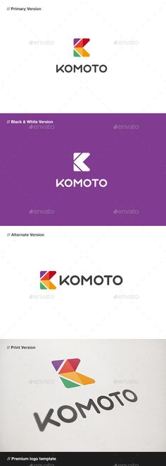 Komoto Abstract Letter K Logo — Vector EPS #studio #logo • Available here → https://graphicriver.net/item/komoto-abstract-letter-k-logo/10747995?ref=pxcr