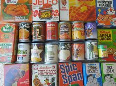 Vintage 1970's Toy Food 28 Pieces Grocery Store Play Items