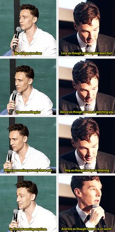 Tom Hiddleston and Benedict Cumberbatch ~ Are you two fucking kidding me?? Like, Comment, Repin !!