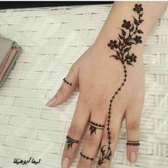 · ´¯` ·. · ´¯` ·. Modern Henna Designs, Henna Tattoo Designs Simple, Finger Henna Designs, Mehndi Designs For Beginners, Mehndi Designs For Fingers, Dulhan Mehndi Designs, Latest Mehndi Designs, Simple Mehndi Designs, Mehndi Designs For Hands