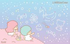 Little twin stars wallpaper Sanrio Wallpaper, Stars Wallpaper, Sister Wallpaper, Cute Desktop Wallpaper, Wallpaper Iphone Disney, Computer Wallpaper, Cute Wallpapers, Kawaii Wallpaper, Desktop Backgrounds