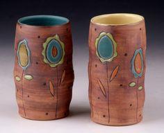 artwork of sarah mccarthy, a functional ceramic potter and artist from floyd, va Ceramics Projects, Clay Projects, Ceramics Ideas, Ceramic Mugs, Ceramic Art, Clay Texture, Bubble Art, Sgraffito, American Crafts