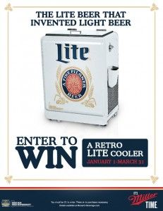 4ab589b763149 Monarch Beverage Company Sweepstakes WIN a Miller Lite Retro Cooler Ends