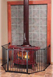 Kidco Auto Close Hearthgate Dog Pet Child Gate for Fireplace Wood Burning Stove   eBay