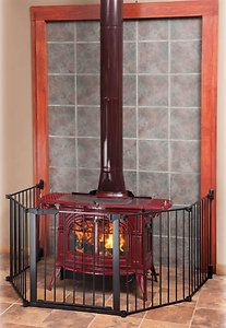 Kidco Auto-close Hearthgate Dog Pet Child Gate For Fireplace Wood Burning Stove