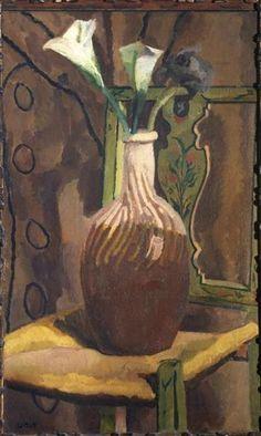 Arum Lilies, 1919 by Vanessa Bell. Post-Impressionism. still life