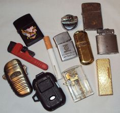 Lot of 11 Lighters Used Not Tested Camping Lighter Modernlite Four Star Buick Sold $10.00