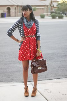 Fabulously Average, Mix and Match print mixing, polka dots, stripes, floral, fall outfit inspiration, fall outfit ideas