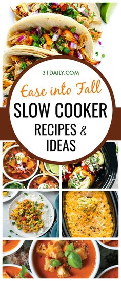 As the calendar slowly turns into fall, here are some easy and convenient Slow Cooker recipes and ideas we'll be making this fall. Slow Cooker Recipes and Ideas to Ease into Fall | 31Daily.com #backtoschool #tailgating #gameday #fallslowcooker #slowcooker #31Daily