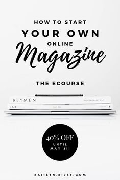 Learn how to start an online magazine in any niche with this ecourse! Save this to your online business ideas and get ready to take your business, Etsy shop, or blog to the next level or even launch your dream career and work from home! 40% off until May 31! #ecourse #girlboss #bossbabe #mompreneur #entrepreneur #onlinebusiness #howtostartablog #bloggingtips #fashionblog #fashionblogger #momblog #onlinebusinessideas #businessideas #ecourses #bloggingincome #bloggingincomereport…