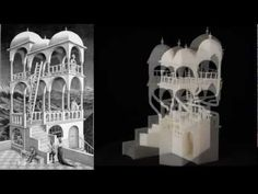Escher for Real - Turning Esher drawings into real 3-D illusions.  The Belvedere, Waterfall, Necker Cube, Penrose Triangle 3D Printing from Technion